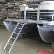 Extreme Max 3005.3430 Aluminum 5 Step Under Mount Pontoon Ladder 2 year Warranty