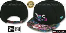 Hornets 'FLORAL-FUR STRAPBACK' Black-Purple Hats by New Era