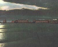 Young's Million Dollar Pier Atlantic City Helmar Sign NJ Night View PC c1909