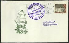 1962 GERMANY EVENT COVER SHIP MS WORMS 90th ANIV SHIPPING HAMBURG TO S AMERICA!