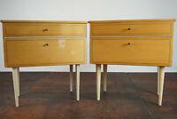 60s Vintage Mini Sideboard Nachtkonsole Beistelltisch Nachttisch Mid-Century 1/2