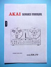 Service Manual-Istruzioni per AKAI gx-77