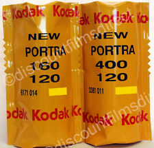 Kodak Portra 160 & 400 120 Roll  2 Film Colour  Film Starter Pack 1st CLASS POST