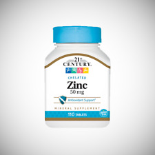 21st Century Chelated ZINC 50 mg - 110 Tablets