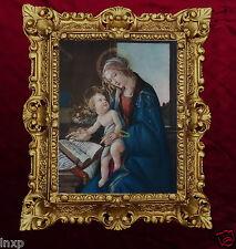 Gemälde Jungfrau Maria und das Buch von Botticelli Madonna Heiligenbild 45x38cm