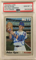 1970 Topps NOLAN RYAN Signed Autographed Baseball Card PSA/DNA #712 Graded a 10!