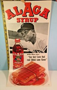 1960's Willie Mays San Francisco Giants ALAGA Syrup Poster