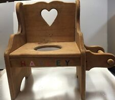 Vintage Handmade Wooden Child's Pottie Bathroom Chair from the 80's