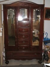Vintage Antique Style Chifferobe Armoire Wardrobe Cabinet