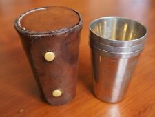 Antique three silver plate and gilt lined stirrup  cups