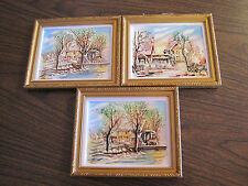 3 CERAMIC ENESCO WALL PLAQUES MADE IN JAPAN
