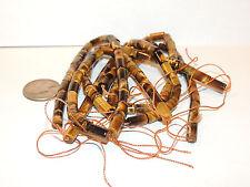 Tiger's Eye Tube 11x6mm Drilled Gemstone Beads Strands (8794)
