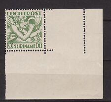 xxx SURINAME Luchtpost NVPH nr .LP 3, hoekrandzegel m. extra perforatie