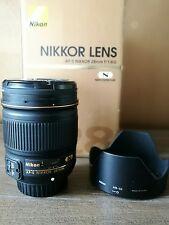 Nikon Nikkor AF-S 28mm f/1.8G Lens + slim uv filter