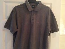 Hugo Boss mens grey short sleeve polo shirt size M