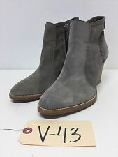 V43 NEW Aquatalia Gray Suede Ankle Boots Women's Size 6 M