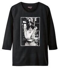 pepperts Mädchen Fashionshirt Shirt Schwarz Iconic - Gr. 122/128
