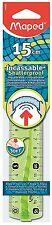 Maped 244060 15 cm flex plat ruler-vert ou couleur bleu
