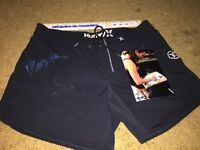 CARISSA MOORE SIGNED AUTOGRAPHED BOARD SHORTS HURLEY SURFER SURF WSL-PROOF COA