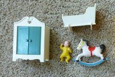 VTg 1977 Fisher Price Loving Family Nursery Dollhouse Furniture Baby Lot