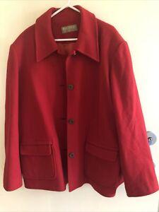 Perri Cutten Xl 16/18 Wool Cashmere Jacket Red Ladies