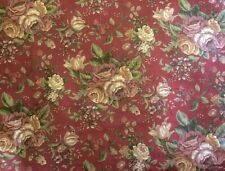 Raymond Waites Floral Red Multi Purpose 54�W Fabric FoR Mill Creek: Bty
