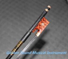Pro light carbon fiber 4/4 violin fiddle bow copper parts black horse hair bow