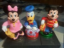 New listing Prototype Vintage Walt Disney Minnie Mickey Mouse Donald Duck Plastic Coin Bank