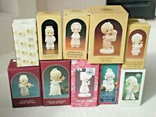 Precious Moments Xmas Figurines Statues Lot of 10 Special Issue 1984 - 1993 Set