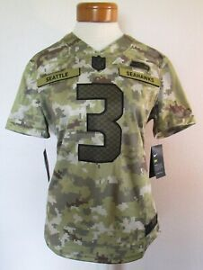 NWT Nike Russell Wilson Seattle Seahawks Womens STS Limited Jersey L Camo $170