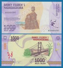Madagascar 1000 Ariary P 100  2017 UNC Low Shipping! Combine FREE!