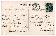 1904 GB postcard with rare St Keyne 3VOS numeral