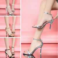 Women Buckle Strap Peep Toe High Heels Sandals Stiletto Summer Gladiator Shoes