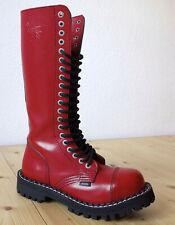 STEEL BOOTS 20 Loch / ROT / Springer Stiefel / Full Red - SIZE 6 / Größe 39