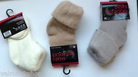 COSY LADIES BED SOCKS SIZE 4 - 7 CHOICE OF COLOURS