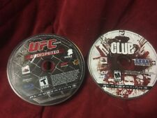 Sony PlayStation 3 UFC Undisputed 2009 + The Club PS3 Disc Games Only.