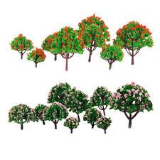 20x Train Railway Flower Tree Model HO Z Scale for Diorama Architecture Prop