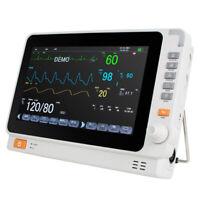 Medical Vital Signs Patient Monitor 6 Paras ECG/NIBP/SPO2/TEMP/RESP/PR Warranty