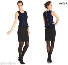 ALFANI NEW Sexy Blue Lace Peplum Cocktail Party Dress 14 QCO