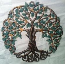 "Colored Tree of Life Wall Hangings Art Haitian Paintings For Sale Metal Art 24"""