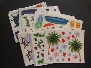 "Creative Memories ~ Summer Items ~ Block Stickers ~ 4"" x 5"""