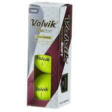 Volvik Vivid Soft Golf Balls x Sleeve of 3 (Yellow)