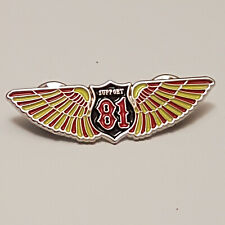 More details for rare metal pin badge 81 nomads outlaw 1% angels riders hells bikers gift present