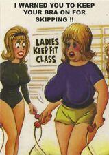 Bamforth Saucy Postcard Keep Your Bra On! C-42196 Fitness,Seaside,Sexy,Boobs