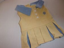 Yellow Preppy Dog Dress XS new Pet xsmall girl Boots & Barley extra Small tennis