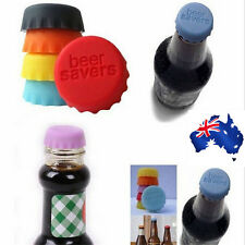 6pcs Beer Bottle Silicon Caps Saver Cover Reusable Stopper Lid Colour Cool Cute