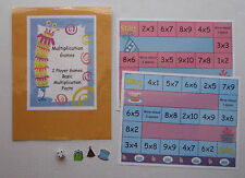 Teacher Made Literacy Center Learning Resource Games Multiplication Facts