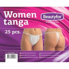 Pack of 25 Disposable Women G Strings Ideal for SprayTan or Waxing (25)