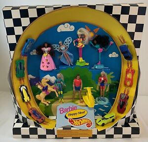 1995 McDonald's Happy Meal display~ FULL SET toys~ HOT WHEELS AND BARBIE