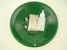 """Gold Rush Mining Kit"" Real PayDirt-10"" Green Gold Pan-Vial-Snuffer-Yukon"